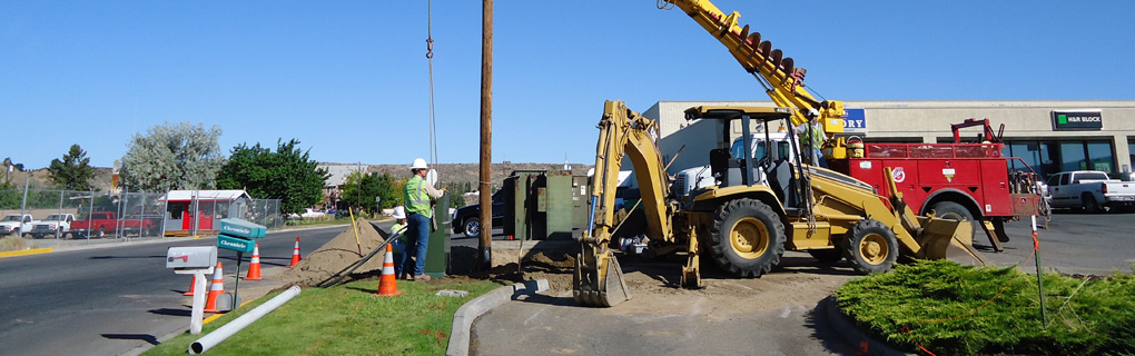 Repairing Power pole.