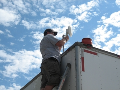 Community Net owner Bill Swazye installing broadband for DNR